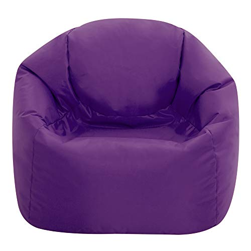 Bean Bag Bazaar Hi-Rest Chair - Kids and Teens - Indoor Outdoor Childrens BeanBag (Purple, Medium)