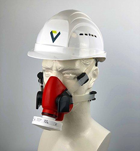 BartelsRieger Profi Atemschutz-Set für Bau und Handwerk / Silikon Maske + P3 Partikelfilter