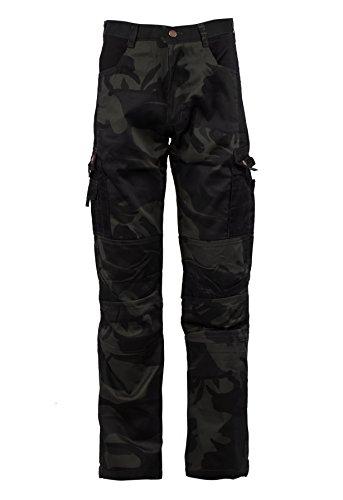 Kamo - Pantalon de Camouflage Cargo - Poches Multiples - Homme - Noir L