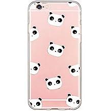 funda iPhone SE, funda iPhone 5S, funda iPhone 5, Dikals tema del verano, panda linda, animales de China ,, transparente funda(iPhone 5/5S/SE,white)