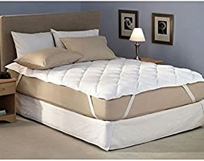 gemshop Factorywala Cotton Waterproof Double Bed Mattress Protector (White, Queen Bed Size 72X60-inch)