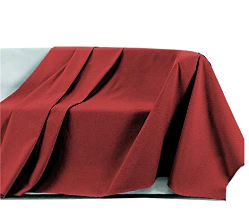 Centesimo web shop telo arredo copritutto in 4 misure - prodotto in italia gran foulard multiuso telo tuttofare copridivano copripoltrona tinta unita - 400x290 cm rosso
