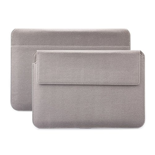 iCues Apple iPad Mini 4 Case | Samsung Galaxy Tab S2 8.0 Tasche | 6.9 bis 8.0 Zoll Tablets Piquante Etui Sheep Taupe | Sleeve Hülle Schutzhülle Case Notebook Tablet Leder Cover Schutz Filz Tasche