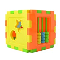 BIYI Multi Shape Sorter Intelligence Box Cognitive Matching Building Blocks Activity Cube Educational Toys For Children (multicolor)