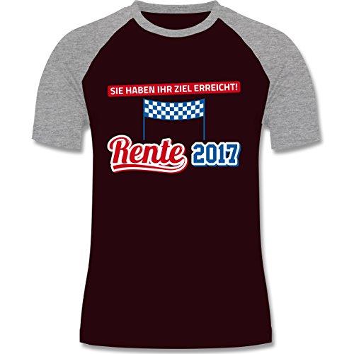 Sonstige Berufe - Rente 2017 Sie haben Ihr Ziel erreicht - zweifarbiges Baseballshirt für Männer Burgundrot/Grau meliert
