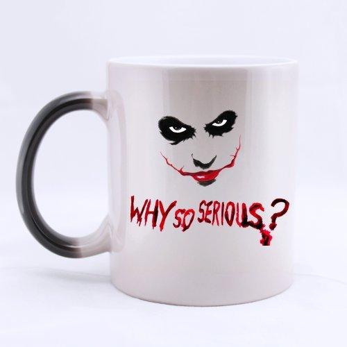 Por qué para niños Joker personalizada diseño personalizado para la taza de café tazas de regalo cambia de Color taza de agua oficina casa tazas 11 OZ dos lados
