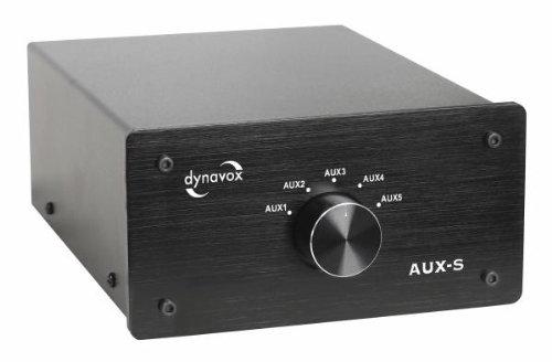 Dynavox Eingangs-Umschalter AUX-S schwarz Audio Selector