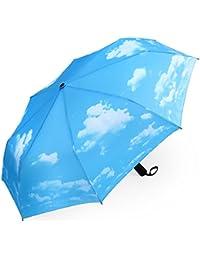 PLEMO Paraguas de Viaje Plegable Automático Fantasía Verde