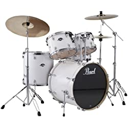 Pearl EXX705/C 5-Piece Export Fusion Drum Set with Hardware - Pure White