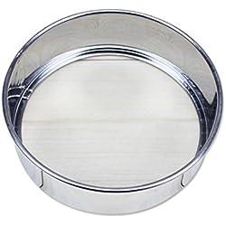 Cribado harina tamiz de malla de acero inoxidable tamiz colador para tartas para horno cocina herramientas prácticas
