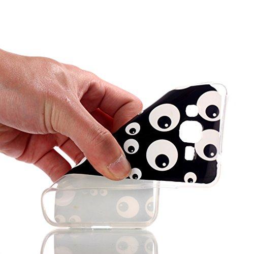 Pour Apple iPhone 6/6S Coque,Ecoway Housse étui en TPU Silicone Souple Case Cas Coque Silicone de Protection Anti Choc Anti Poussière Résistant Léger Fit Apple iPhone 6/6S –Liangxiaowucai oeil noir et blanc