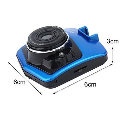 Portable 2.4 pollici LCD telecamera per Auto DVR 720P risoluzione veicolo videoregistratore Dash fotocamera registratore di Guida Nero (blu) -