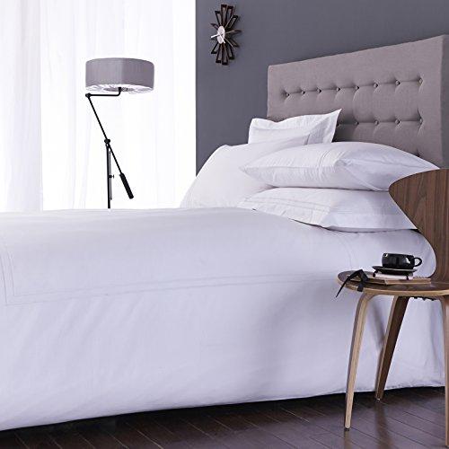 Classic weiß Hotel Collection Charlotte Thomas 100% Baumwolle Richmond Bettwäsche Bettbezug 2Kissenbezüge Set, weiß-King Size -