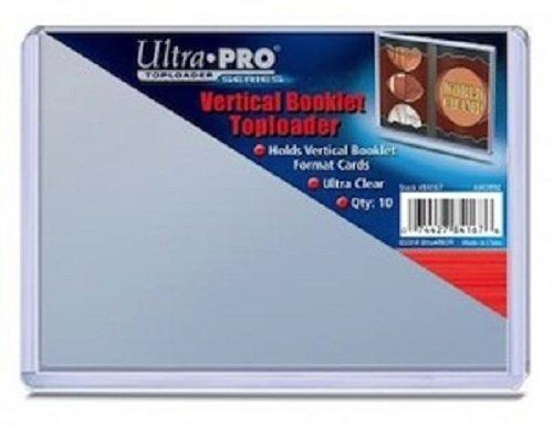 10 Ultra Pro Vertical Booklet Toploader - 5 1/2