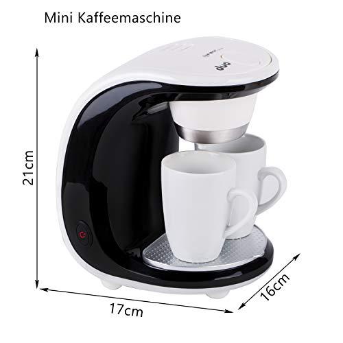 450W Design 2 Tassen Kaffeemaschine mit 2 Porzellantassen Ein / Zwei Tassen - 5