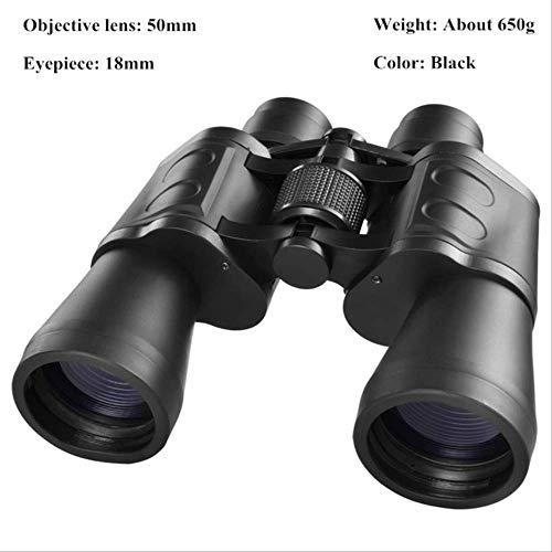 Wyjs Telescopio Binoculares De Alta Claridad 10000M Binoculares Militares Potentes para La Caza Al Aire Libre Telescopio De Vidrio Óptico De Alta Definición De Visión Nocturna Con POCA Luz 20X50-01Z