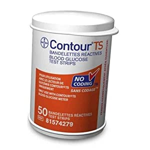 Bayer Contour TS Diabetic Blood Glucose Test Strips 50