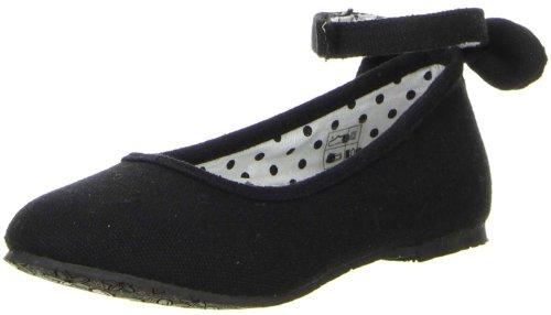 ConWay Mädchen Ballerinas schwarz Schwarz