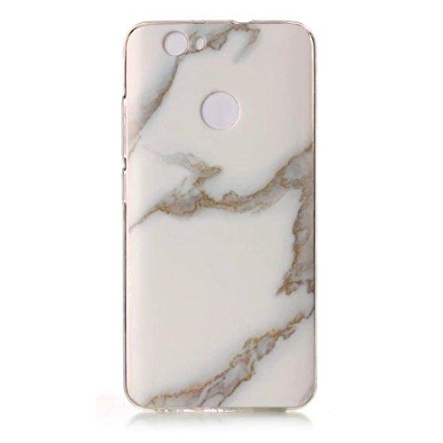 cover Huawei P8LITE 2017.Marmo verde DECHYI serie Custodia case è Huawei P8LITE 2017. Alta sottile trasparente silicone morbido Custodia TPU. verde+ Stilo capacitivo Jade white