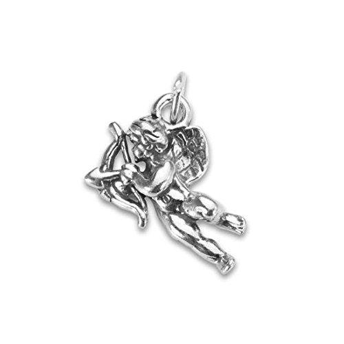 Ciondolo TheCharmWorks in argento Sterling a forma di Cupido con arco e frecce - Cupido Amore Charm