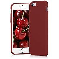kwmobile Coque Apple iPhone 6 / 6S - Coque pour Apple iPhone 6 / 6S - Housse de téléphone en Silicone Rouge Mat