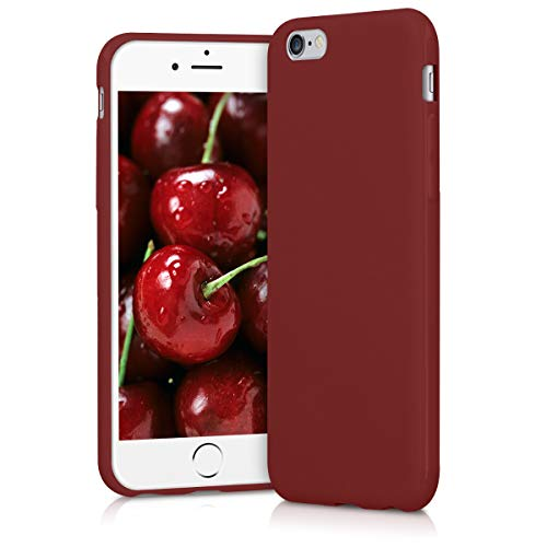 kwmobile Apple iPhone 6 / 6S Hülle - Handyhülle für Apple iPhone 6 / 6S - Handy Case in Rot matt