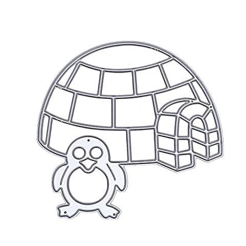 Dairyshop Métal Pingouin de coupe Dies Pochoirs Album de scrapbooking gaufrage DIY Craft carte
