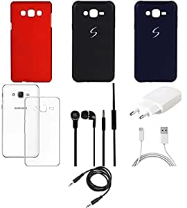 NIROSHA Cover Case Charger Headphone car for Samsung Galaxy ON5 - Combo