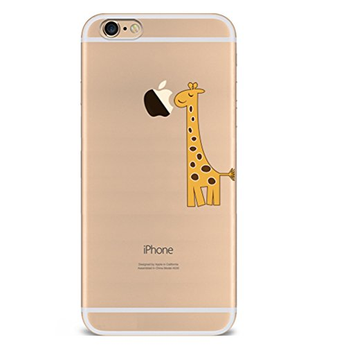 Iphone 5c Hülle Giraffe Einhorn Elefanten Art Karikatur Silikon TPU Schutzhülle Ultradünnen Case Schutz Hülle für iPhone 5c YM75
