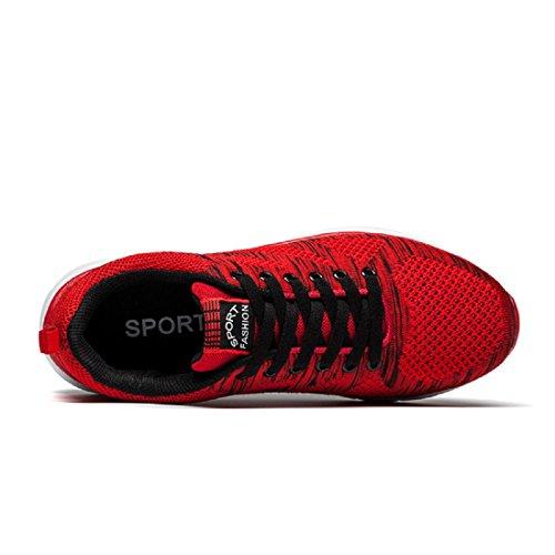 Herren Sportschuhe Atmungsaktiv Lässige Schuhe Licht Ausbilder Draussen Laufschuhe Red