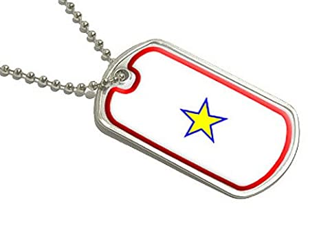 Or Star Service Militaire Drapeau – One 1 Guerre Militaire Mère – Dog Tag bagages