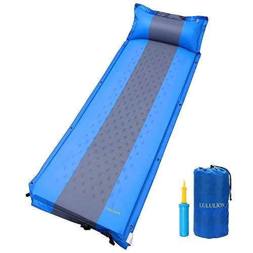 iBaseToy Selbstaufblasbare Isomatte Luftmatratze mit Kissen Leichte Falten Camping Isomatte für Hängematte und Zelt Schlafsack Outdoor Wandern