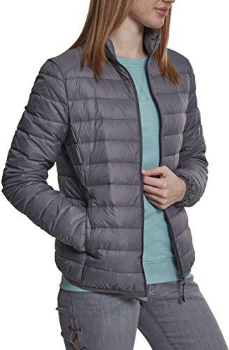 Urban Classics Damen Jacke Ladies Basic Down Jacket, Grau (Darkgrey 00094), Large (Herstellergröße: L)