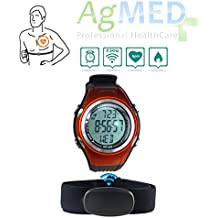 Watch with Pulsemeter Heart Rate / Pulse Monitor Watch with Belt Wireless Bluetooth Smart / Sports Watch / Runners GPS Monitors Physical Activity Levels by AG GROUP