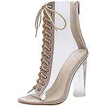 8e1d77ff9c966 Zapatos de tacón Altas Ancho Clásicos para Mujer Verano 2018 PAOLIAN Casual  Transparente Zapatos de Boca