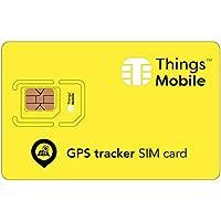Tarjeta SIM para rastreador GPS / GPS tracker - GSM / 2G / 3G / 4G - ideal para rastreador GPS / GPS tracker para uso doméstico e industrial con un crédito incluído de 10 €