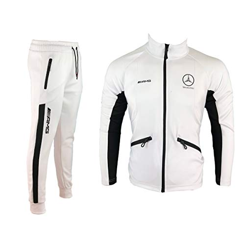 Furia Rossa Survêtement Homme Training Blanc et Noir Logo Mercedes AMG AJ242