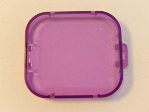 vhbw Filter Linsenschutz lila Unterwasser für GoPro Hero 3,3+