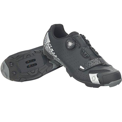 Scott Herren MTB-Radschuh Comp Boa Mountainbike Schuhe, Schwarz/Silber 5547, 44 EU