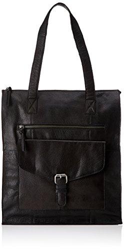 PIECES - Pcabby Leather Shopper Noos, Borse a spalla Donna Nero (Black)