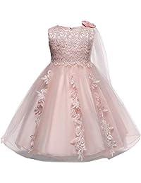 OPAKY Vestido de Novia de Fiesta de Encaje de Princesa Dama de Honor Vestido de Tutú