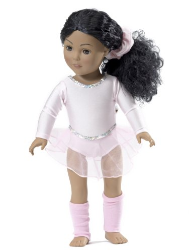 18 Inch Doll Champion Ballet Skater | Fits American Girl Doll Skating Outfit | Ballet Warm-up by Emily Rose Doll Clothes (Skater-girl Schuhe)