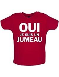 Oui je suis un jumeau - Marrant T-Shirt bébé - 8 couleurs - 3 à 24 Mois