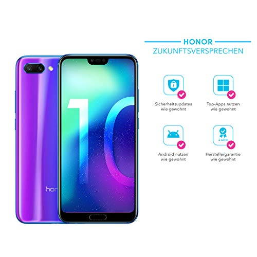 Honor 10 Smartphone (14,83 cm (5,84 Zoll), Full HD+ Touch-Bildschirm, 64GB interner Speicher, 4GB RAM, Phantom Blau - Deutsche Version