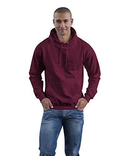 JH001 College Hoodie Kapuzenpullover Sweatshirt Kapuzensweatshirt, Farbe:BURGUNDY;Größen:S S,Burgundy (College Hoody Sweatshirt)