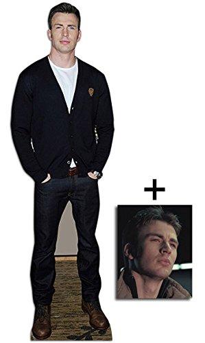 Chris Evans Lebensgrosse Pappaufsteller - mit 25cm x 20cm foto - Evans Foto