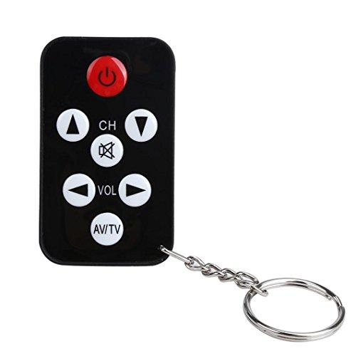 LCLrute Hohe Qualität TV Mini Schlüsselanhänger Universal Fernbedienung für Philips Sony Panasonic Toshiba LO (Schwarz)