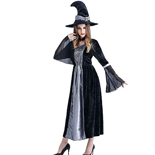 Kostüm Hexe Gruselige - Gruselige Hexe Kostüm Womens Hexen Halloween Horror Kostüm Outfit,Schwarz,OneSize