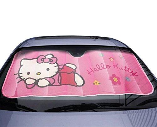 Parasol para parabrisas de coche, diseño de Hello Kitty, color rosa
