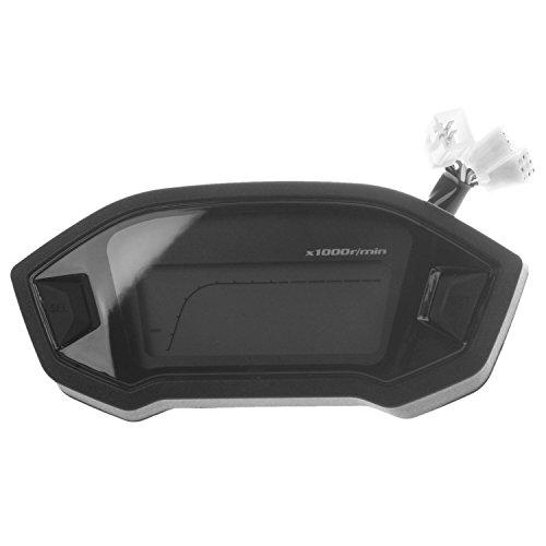 Preisvergleich Produktbild Motorrad Kilometerzaehler - TOOGOO(R) Motorrad Kilometerzaehler Tachometer Messgeraet Universell LCD Digital Hintergrundbeleuchtung